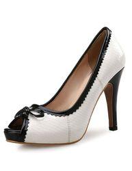 Chaussures talons hauts de bouche de poisson Escarpins talons hauts et plateforme blancs - Milanoo FR - Modalova