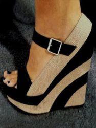 Milanoo Sandales compenséess, plateforme , chaussures à bout ouvert avec boucle à bout ouvert - milanoo.com - Modalova