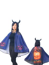 Milanoo Accessoires de costume d'halloween cape cape polyester motif d'impression de monstre cape de costume violet - milanoo.com - Modalova