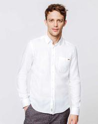 Chemise casual coton blanc - Izac - Modalova