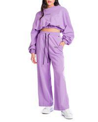 Candy - completo tuta felpa e pantalone fondo ampio - Shiki - Modalova
