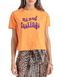 Selena - t-shirt in jersey con stampa - Shiki - Modalova