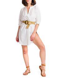Lucia - abito camicia con applicazioni su manica - Shiki - Modalova