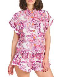 Corfù - camicia stampata con tasconi - Shiki - Modalova