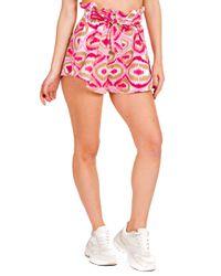 Creta - shorts stampato con fusciacca - Shiki - Modalova