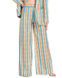 Glenda - pantalone fantasia a righe - Shiki - Modalova