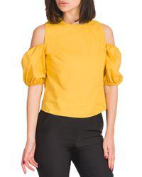 Chiara - blusa popeline con manica a palloncino - Shiki - Modalova