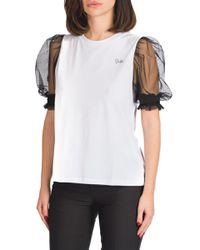Sara - t-shirt con manica a sbuffo in tulle - Shiki - Modalova
