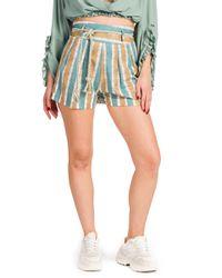 Glenda - shorts fantasia a righe - Shiki - Modalova