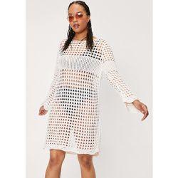 Grande Taille - Dressing Gown Ample En Crochet À Manches Longues - - 14/16 - Nasty Gal - Modalova