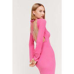 Ripple Rib Flare Sleeve Backless Maxi Dress - Nasty Gal - Modalova