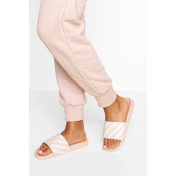 Sandales À Slogan Rayures - Blanc Écru - 36, Blanc Écru - boohoo - Modalova
