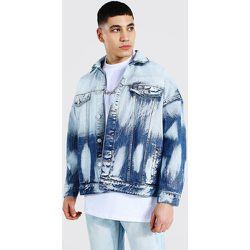Veste en jean décolorée - Boohooman - Modalova