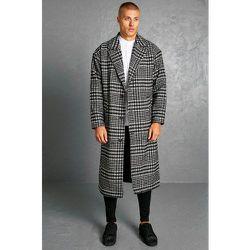 Manteau long à carreaux - Boohooman - Modalova