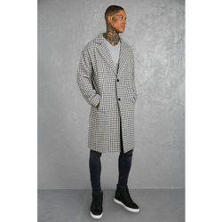 Manteau droit long à carreaux - Boohooman - Modalova
