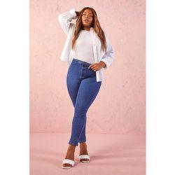 Grande Taille - Jean Taille Haute Skinny Super Stretch - boohoo - Modalova