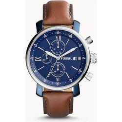 Montre Rhett chronographe en cuir  - Fossil - Modalova
