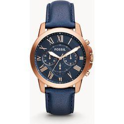 Montre Grant chronographe en cuir  - Fossil - Modalova