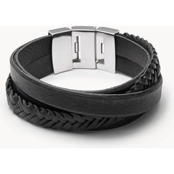 Bracelet en cuir multiliens  - Fossil - Modalova