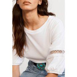 T-shirt à galons en coton biologique - CLAUDIE PIERLOT - Modalova