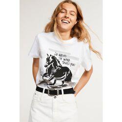 T-shirt imprimé en coton biologique - CLAUDIE PIERLOT - Modalova