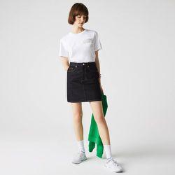 Jupe droite mi-longue en jean Taille 34 - Lacoste - Modalova