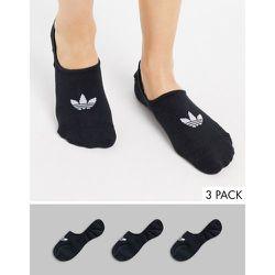 Lot de 3 paires de chaussettes invisibles - Noir - adidas Originals - Modalova