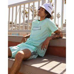 Summer Club - T-shirt oversize à imprimé logo linéaire - Menthe - adidas Originals - Modalova