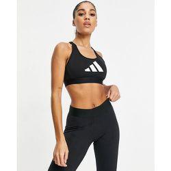 Adidas Training - Brassière de sport soutien intermédiaire avec dos nageur et logo à 3bandes - adidas performance - Modalova
