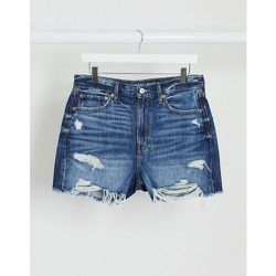 - Short boyfriendmi-long en jean style90's - Délavage foncé - AMERICAN EAGLE - Modalova