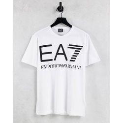 Armani - Train - T-shirt avec grand logo - EA7 - Modalova