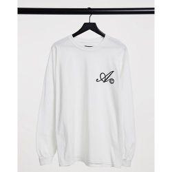 ASOS - Actual - T-shirt à manches longues avec logo sur le devant - ASOS Actual - Modalova