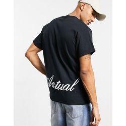 ASOS - Actual - T-shirt avec logo imprimé sur le devant et dans le dos - ASOS Actual - Modalova