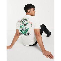 T-shirt décontracté avec logo fleuri sur le devant et imprimé au dos - ASOS Actual - Modalova