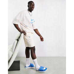 ASOS - Dark Future-Short d'ensemble en jersey avec logo imprimé - coquillage - ASOS Dark Future - Modalova