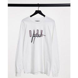 T-shirt à manches longues avec logo sur l'avant et au dos - ASOS Dark Future - Modalova