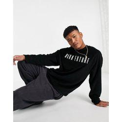 ASOS - Dark Future - T-shirt long oversize en tissu éponge avec logo brodé - ASOS Dark Future - Modalova