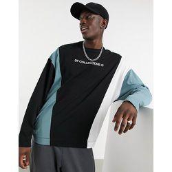 T-shirt oversize à manches longues avec empiècements coupés-cousus - ASOS Dark Future - Modalova