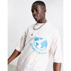 -T-shirt oversize avec logos imprimés (pièce d'ensemble) - coquillage et multicolore - ASOS Dark Future - Modalova