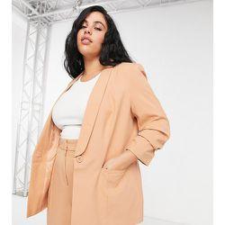 ASOS DESIGN Curve - Mix & Match - Blazer de tailleur ajusté - Blush - ASOS Curve - Modalova