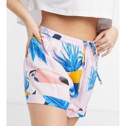 ASOS Design Curve - Mix & Match - Short de pyjama 100% modal à imprimé toucan - Rose - ASOS Curve - Modalova