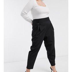 ASOS DESIGN Curve - Pantalon boule habillé taille haute coupe fuselée - ASOS Curve - Modalova