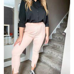 ASOS DESIGN Curve - Pantalon de tailleur slim en jersey - Blush - ASOS Curve - Modalova