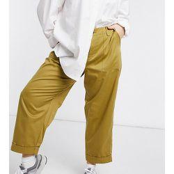 ASOS DESIGN Curve - Pantalon style treillis décontracté - Olive - ASOS Curve - Modalova