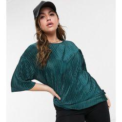 ASOS DESIGN Curve - T-shirt plissé - foncé - ASOS Curve - Modalova