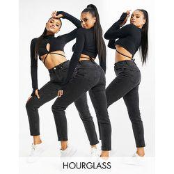 Hourglass - Farleigh - Jean mom slim taille haute - délavé - ASOS DESIGN - Modalova