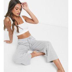 ASOS DESIGN Petite - Mix & Match - Pantalon de pyjama droit - chiné - ASOS Petite - Modalova