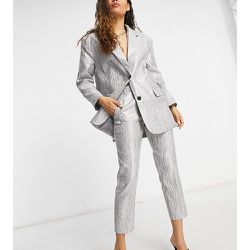 ASOS DESIGN Petite - Pantalon de tailleur en moire - Métallisé - ASOS Petite - Modalova