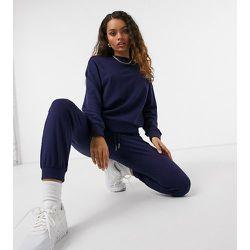 ASOS DESIGN Petite - Survêtement ajusté avec jogger et sweat-shirt - Bleu marine - ASOS Petite - Modalova