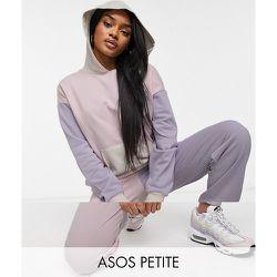 ASOS DESIGN Petite - Survêtement oversize avec hoodie et jogger effet color block - Pastel - ASOS Petite - Modalova